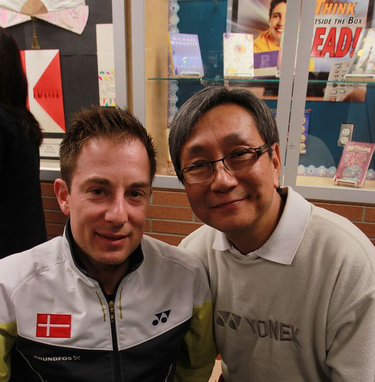 Wilfred Wei with Peter Gade