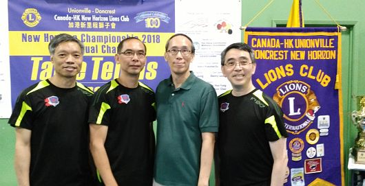 2018 Lions Club Table Tennis Tournament